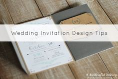 Wedding_Invitation: Tips on Designing Your Own Wedding Invitations. {ahandcraftedwedding.com} #DIY #invitations