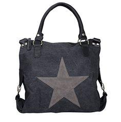 Damen FASHION Handtasche Sterne Canvas TOP TR… – Qeoro