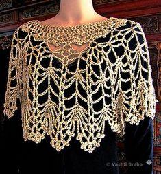 Crochet shawl wrap capes ideas 43 Ideas for 2019 Crochet Cape, Crochet Poncho Patterns, Crochet Shawls And Wraps, Crochet Stitches, Knit Crochet, Crochet Shrugs, Sewing Patterns, Crochet Collar, Crochet Blouse