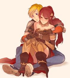 RWBY - Pyrrha and...Jaune.