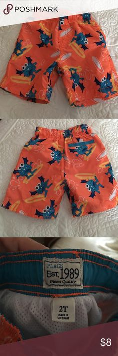 The children place swim shorts 2T Shorts only wore one time excellent condition Children's Place Swim Swim Trunks
