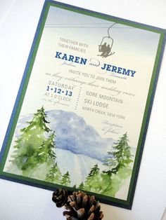 Mountain Wedding Invite perfect for a Crested Butte Wedding