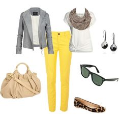 I keep trying to muster up the courage to wear my yellow pants again... They're not quite this bright but... Still they're yellow.