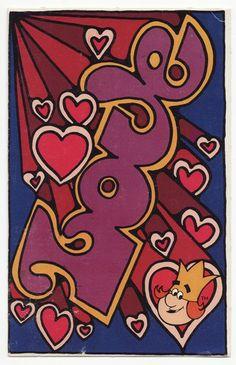 Groovy Love. Burger King advertising postcard
