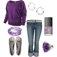 Thinking of summer.  I should get a shirt like this.  Purple <3.
