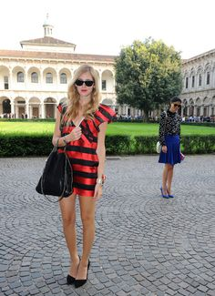 Chiara Ferragni - Missoni - Backstage And Front Row - Milan Fashion Week Womenswear Spring/Summer 2012