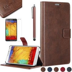 Note 3 Case, Galaxy Note 3 Flip Case - ULAK Galaxy Note 3 Case Deluxe PU Leather Folio Wallet Case Cover for Samsung Galaxy Note 3 Note III N9000 (AT&T, T-Mobile, Sprint, Verizon) with Stylus and Clear Screen Protector (Coffee) ULAK http://www.amazon.com/dp/B00GUB48BA/ref=cm_sw_r_pi_dp_3EGkub1BNAC15