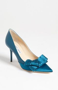 Jimmy Choo Bow Pump available at #Nordstrom...looks like a shoe my mother would've worn...with a facelift!