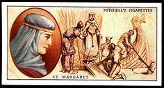Cigarette Card - St Margaret, Queen of Scotland