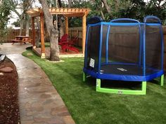 Fun for adults and kids. Synthetic grass by Southwest Greens of San Antonio.