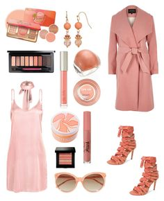 """""""choker dress and robe coat"""" by im-karla-with-a-k ❤ liked on Polyvore featuring WithChic, River Island, Ilia, John Hardy, Maybelline, Tinge, Daya, Linda Farrow and Bobbi Brown Cosmetics"""