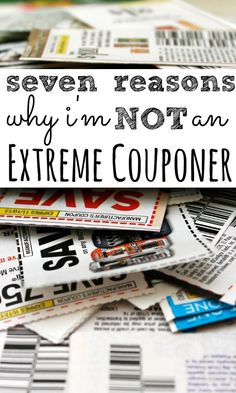 I do use coupons to help with the cost of my supermarket shop but I'm not an extreme couponer and don't think couponing is a reliable way to save money.