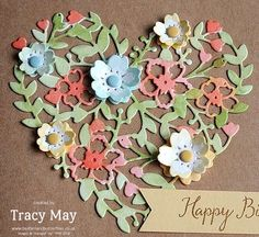 Watercolour Bloomin' Hearts from Stampin' Up! Tracy May UK Demonstrator