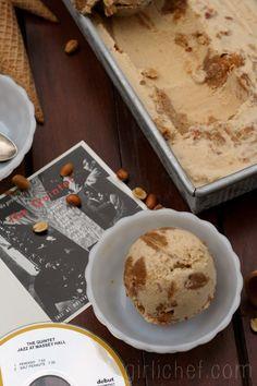 Salted Peanut Swirl Peanut Butter Ice Cream {#SundaySupper: Music-Inspired / Salt Peanuts by The Quintet} | www.girlichef.com