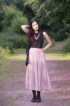 Urban Outfitters Jewelry, Oasap Maxi Skirt, Coolway Creepers