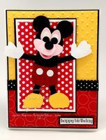 Mickey Mouse Punch Art Birthday Card - Sharon's Scrappy Space