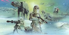 The Empire Strikes Back /by Brian Rood #StarWars #art