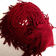 Super soft knit scarf Burgundy/maroon knit scarf. Super soft. Excellent condition. I forget where I purchased it. Accessories Scarves & Wraps