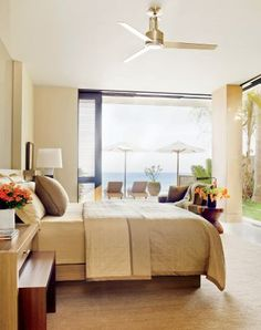 Beach Bedroom by Terry Hunziker Inc. and Olson Kundig Architects in Los Cabos, Mexico