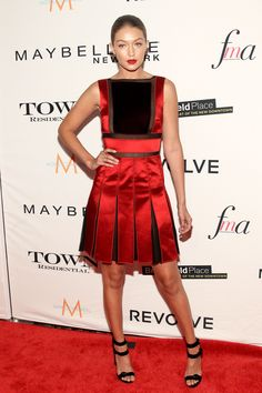 in New York attending the Daily Front Row's Third Annual Fashion Media Awards, dressed in a stunning red Tommy Hilfiger number.    - HarpersBAZAAR.com