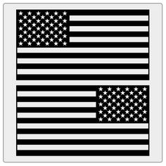 American Flag Decals - 1 Color