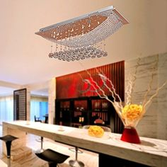 lightinthebox crystal flush mount with 9 lights in square modern