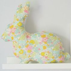 Front view - Liberty Boxford Rabbit Cushion