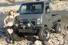 Mini Trucks, Custom Trucks, Cool Trucks, Pickup Trucks, Suzuki Carry, Mini 4x4, Vw Beach, Accessoires 4x4, Kei Car