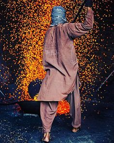 Labourer works at a construction site in Lahore, Pakistan. Photo submitted by Submit your photos, videos and artwork to us by using
