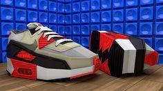 low poly Nike air max 90 by Denis Kowal, via Behance