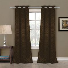Mercury Row Pixley Blackout Curtain Panels Color: Chocolate