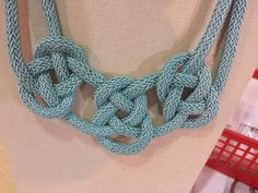 Knot necklace. Requires 3m cord, clasp, jewellery glue and a log oc patience!