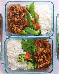 Meal prep the easiest crock pot teriyaki chicken with stir-fried veggies and white rice for a balanced healthy meal all week long. Easy Healthy Meal Prep, Best Meal Prep, Healthy Snacks, Eating Healthy, Healthy Meal Planning, Dinner Healthy, Healthy Summer, Healthy Packed Lunches, Paleo Meal Prep