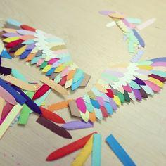 Wing it - Lydia Kasumi Shirreff Preschool Art, Craft Activities For Kids, Paper Crafting, Diy Paper, Hot Air Balloon Paper, Bird Crafts, Paper Flower Backdrop, Paper Artwork, Business For Kids