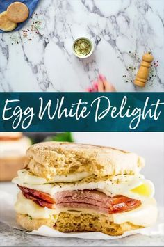 Egg White Delight is an easy healthy breakfast sandwich that you can take on the go. English Muffin egg whites white cheddar and herbs all come together to make this quick & easy McDonald's copycat breakfast. Recipes Breakfast Video, Brunch Recipes, Brunch Foods, Easy Recipes, Egg White Delight Recipe, Croissant, Mcdonalds Recipes, Egg White Recipes, Healthy Breakfast On The Go