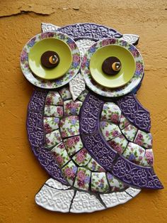 Owl Mosaic, Mosaic Birds, Mosaic Wall Art, Mosaic Diy, Mosaic Garden, Mosaic Crafts, Mosaic Projects, Mosaic Glass, Stained Glass