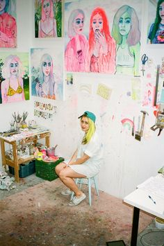 A peek into the colorful world of Toronto-based artist Shanna Van Maurik and her rainbow of Instagram girls.