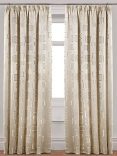 Contemporary Milano Jacquard Pleated Lined Curtains With Tie Backs | Very.co .uk