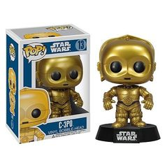 Star Wars - C3PO POP Figure Toy 3 x 4in ** Click here for more details @ http://www.amazon.com/gp/product/B006HSL2OM/?tag=superheroes025-20&wx=100816044654