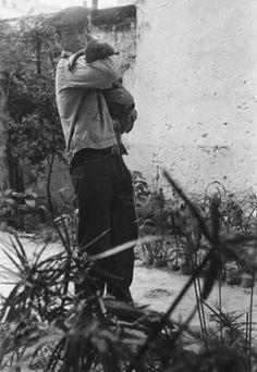 Jack Kerouac and his Cat •