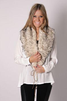 I love this fur shawl