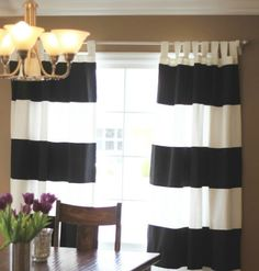Here is the tutorial I promised from THIS  post...     What you need:   - These  Ikea curtains   -3 yards of black twill  fabric  ...