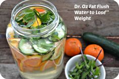 Dr. Oz Fat Flush Drink To Flush Fat and Lose Weight | http://skinnyover40.com/dr-oz-fat-flush-drink-flush-fat-lose-weight/