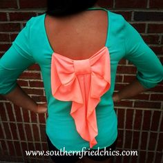 Watermelon Bow Back Top $42.99!