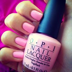 "Light pink so pretty for Valentine's Day by OPI in the shade ""Pink Friday"" like the Nicki Minaj's album"