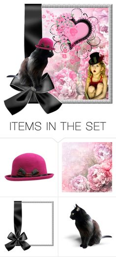 """""""Let's Trade Hats"""" by jeannierose ❤ liked on Polyvore featuring art"""