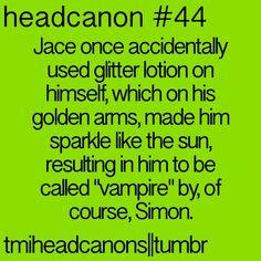 The Mortal Instruments Headcanon // TMI // Jace and Simon