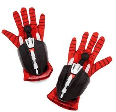 Spidey's webshooting powers are simulated in this pair of play projectile gloves that fire plastic darts while projecting a Spider-icon image on your walls! Images as seen in Marvel's Spider-Man: Homecoming. Kids Spiderman Costume, Spiderman Movie, Army Men Toys, Marvel Ultimate Spider Man, Cool Nerf Guns, Black Spiderman, Spy Gear, Super Hero Costumes, Spider Man