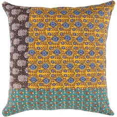 Colorful cotton pillow from Surya
