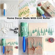 Home Decor Made With Lint Roller | http://www.diycraftsandideas.com/home-decor-made-with-lint-roller/